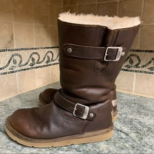 UGG Brown Havanna Kensington Shearling Sheepskin